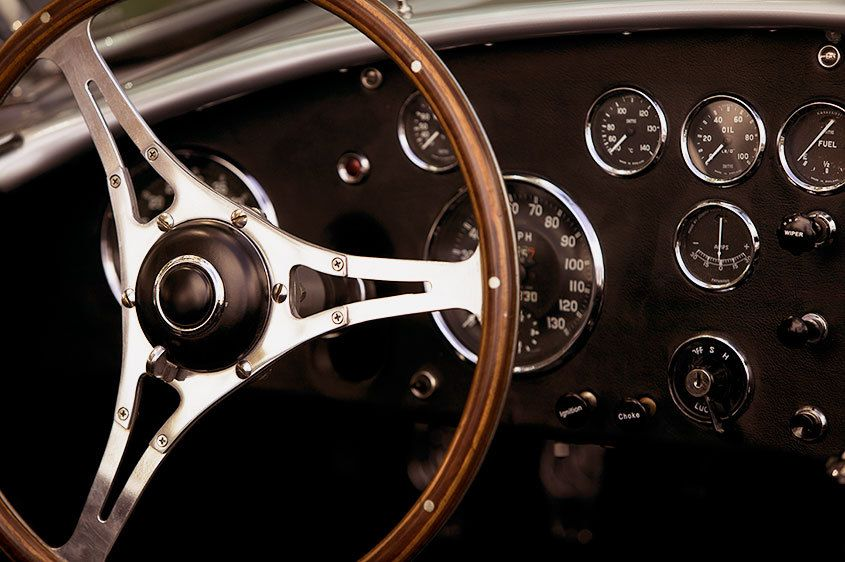 Classic British Wood Trimmed Steering Wheel