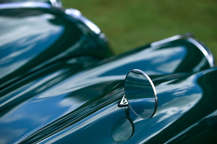 Vintage Jaguar Reflections