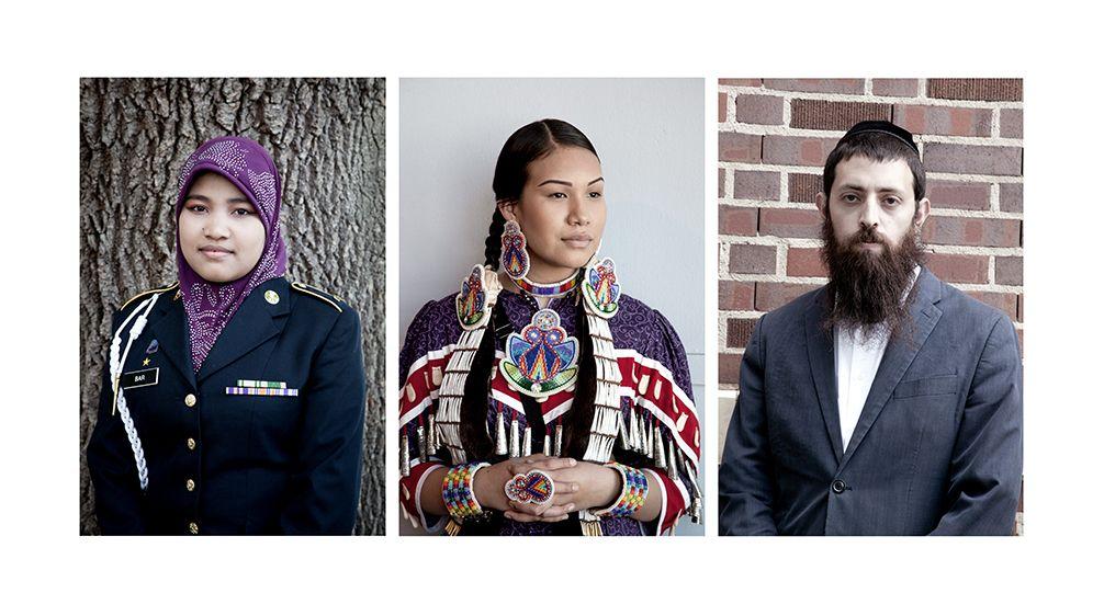 ROTC Cadet Bar-Indonesian Heritage,Hannah-Lakota Heritage, Rabbi Shmuly- Jewish Heritage