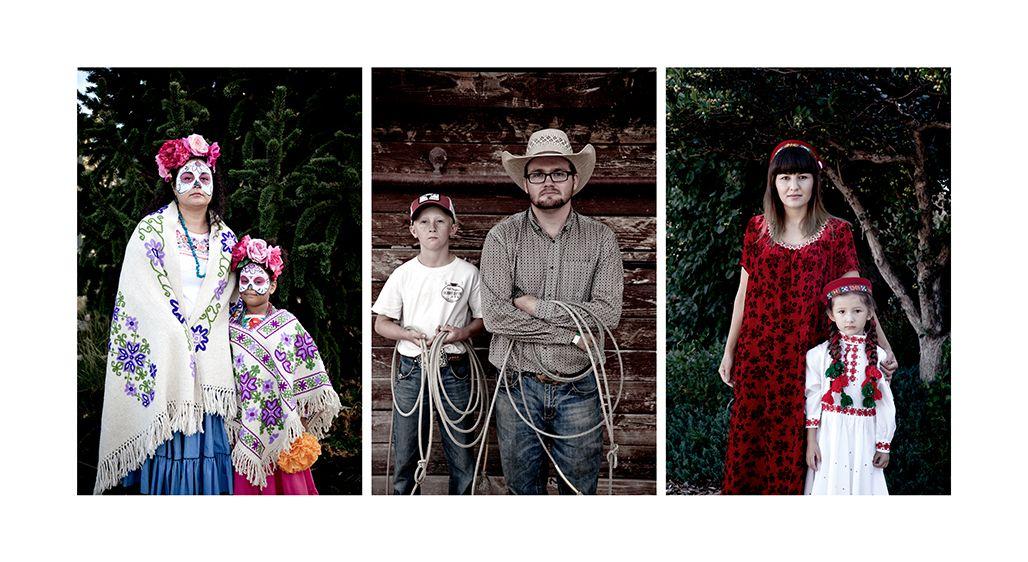 Amelia and  Sarai-Mexican Heritage, Danny and Son-Western Heritage, Malika and Suratmo-Tajik Heritage