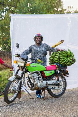 Jennifer Sally Among (age 34) Boda Boda driver for four  years.
