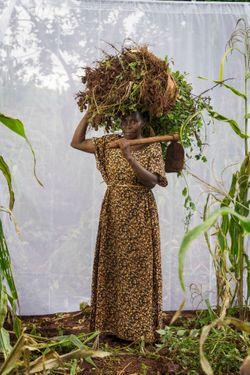 Kandha Mwajuba (age 48) farming for 20 years.