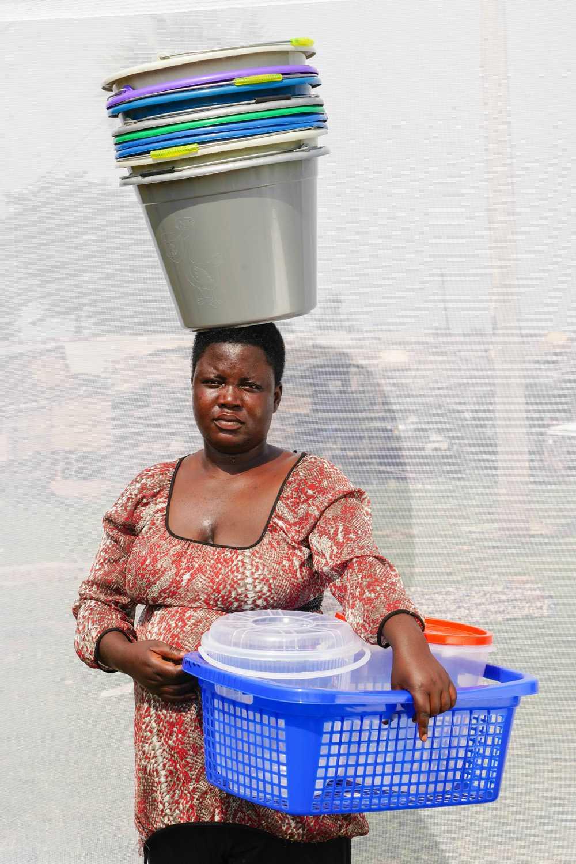 Selling plastic buckets