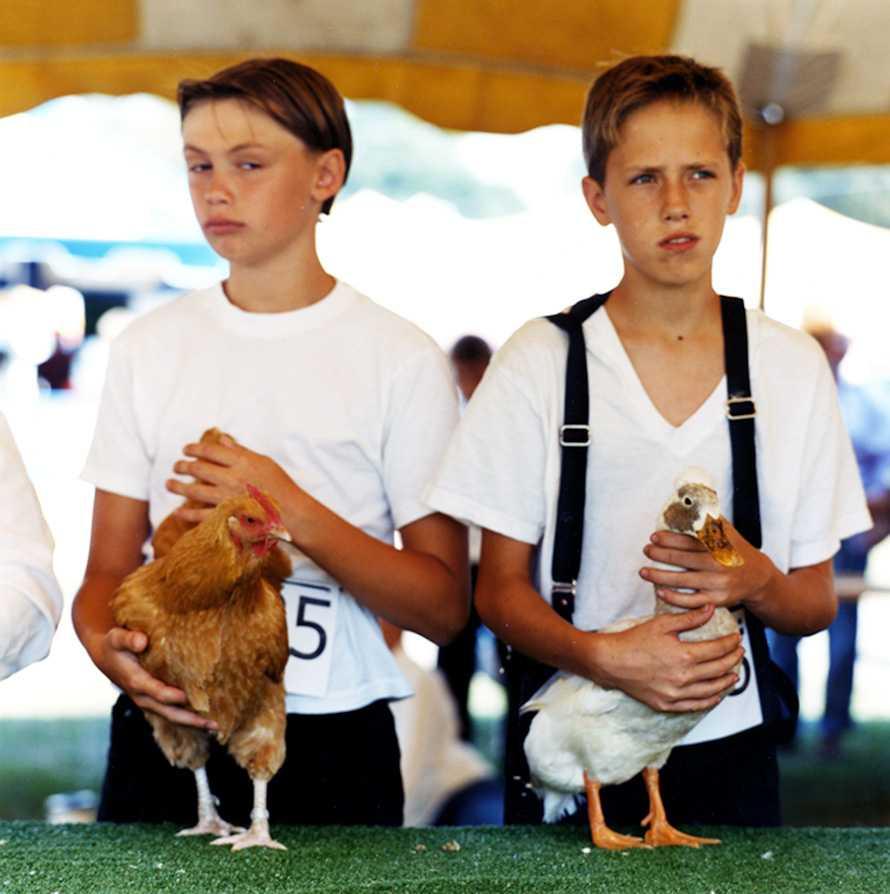 """Poultry Showmanship Competition"" Delaware County Fair 2001"