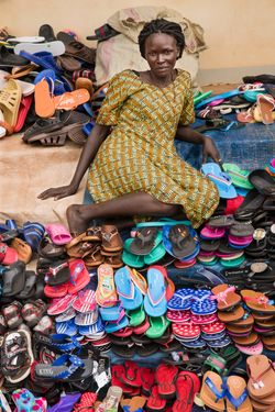 O. Kevin: Age 38, Selling Shoes for 10 Years.