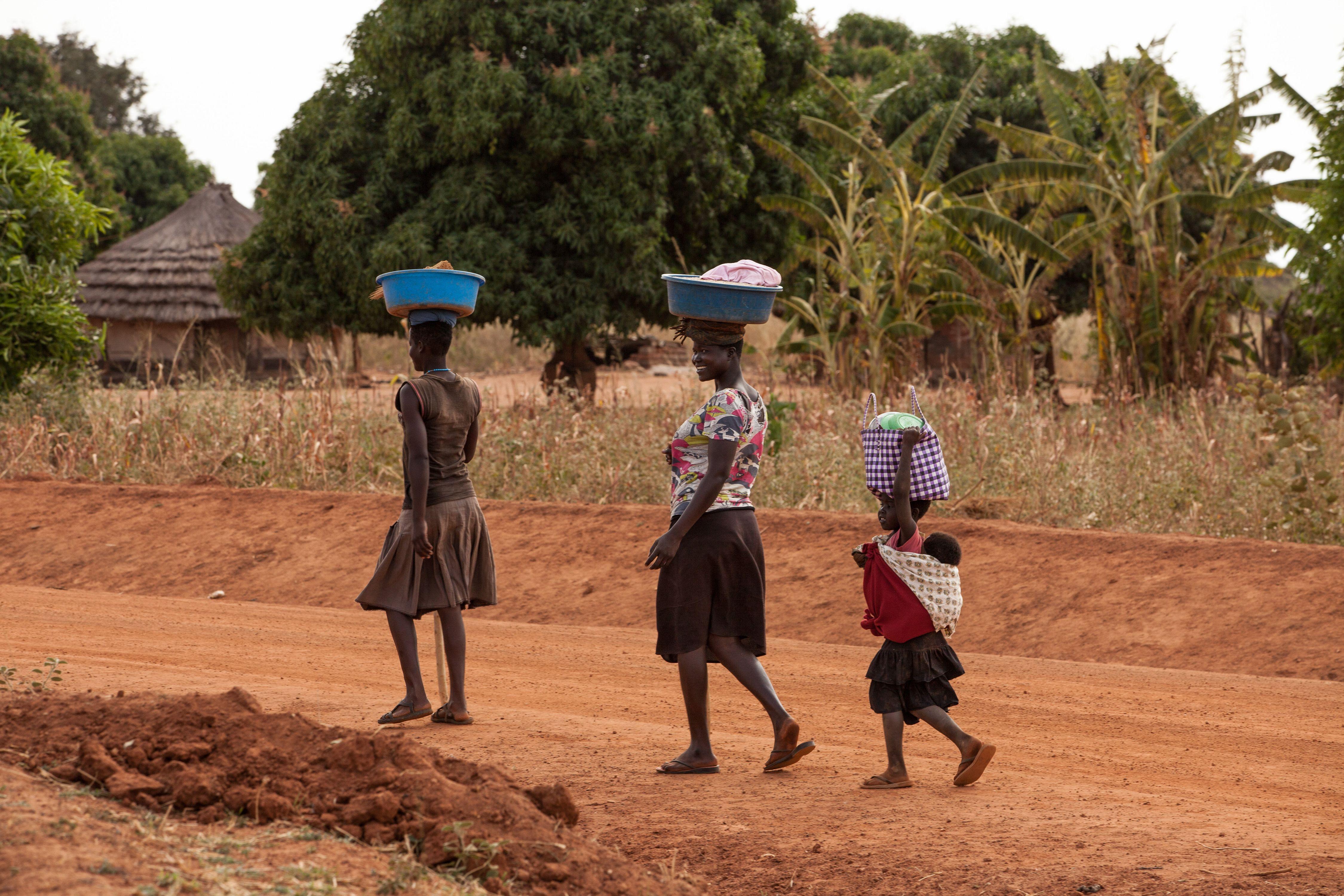 On the road to Gulu, Uganda