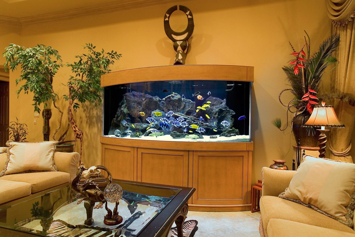 A Custom Aquarium Installation for an Eclectic Interior