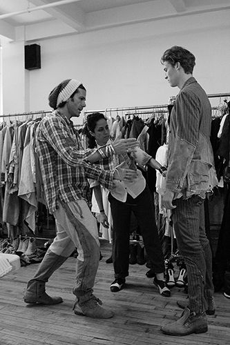 GREG LAUREN, clothing designer.Greg Lauren.