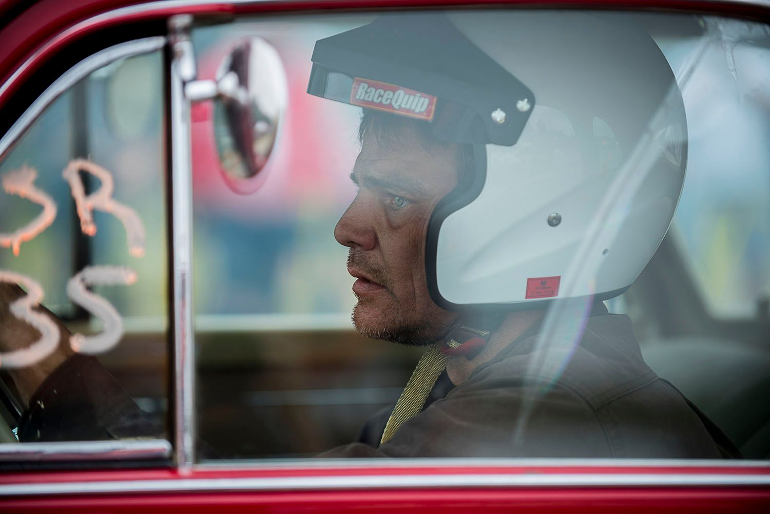 Race Car Driver at the Start Line