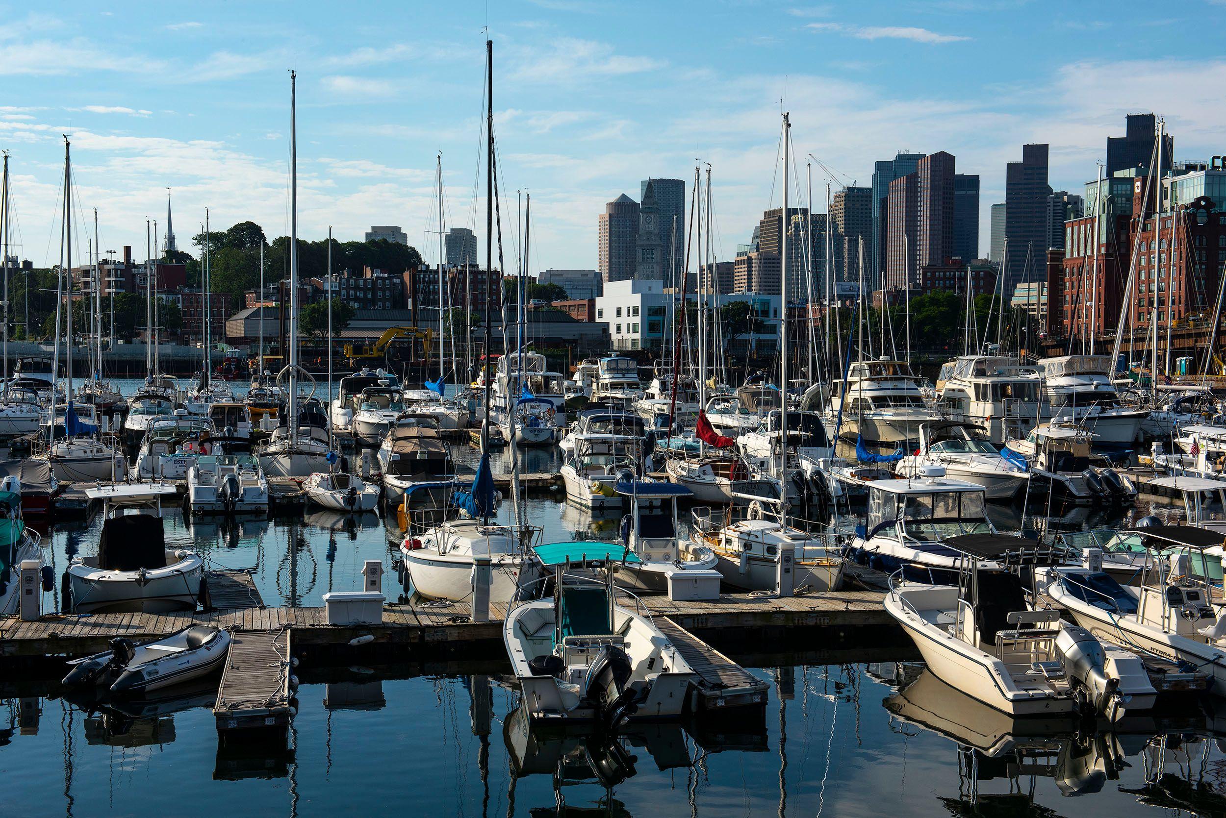 Boston Marina with Boats