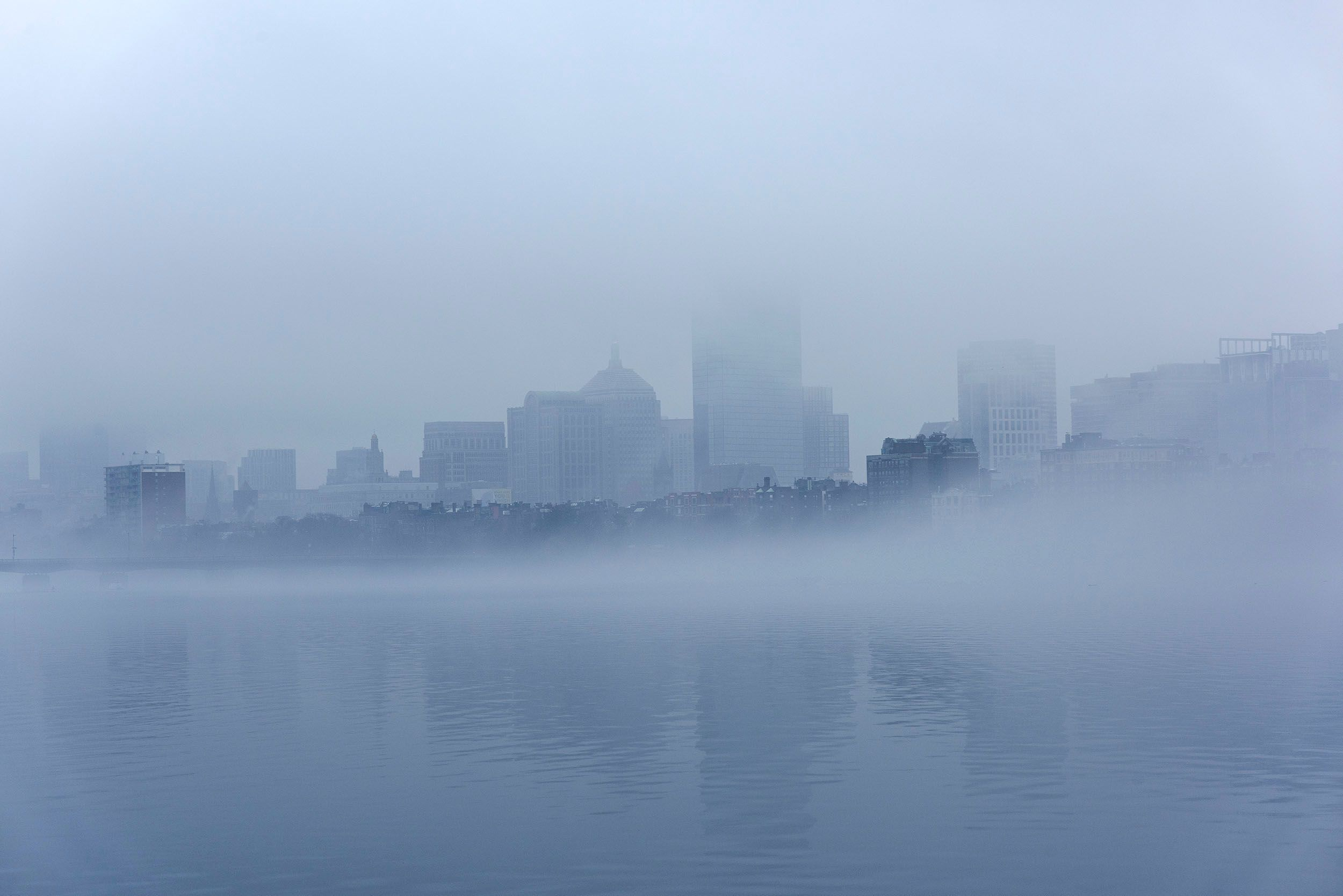 Fog envelopes Boston