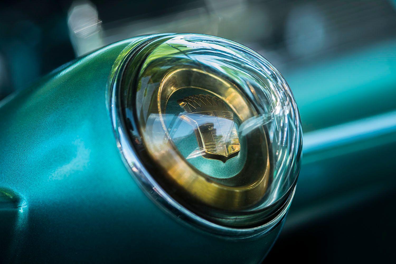 1954 Cadillac Coupe de Ville gold logo