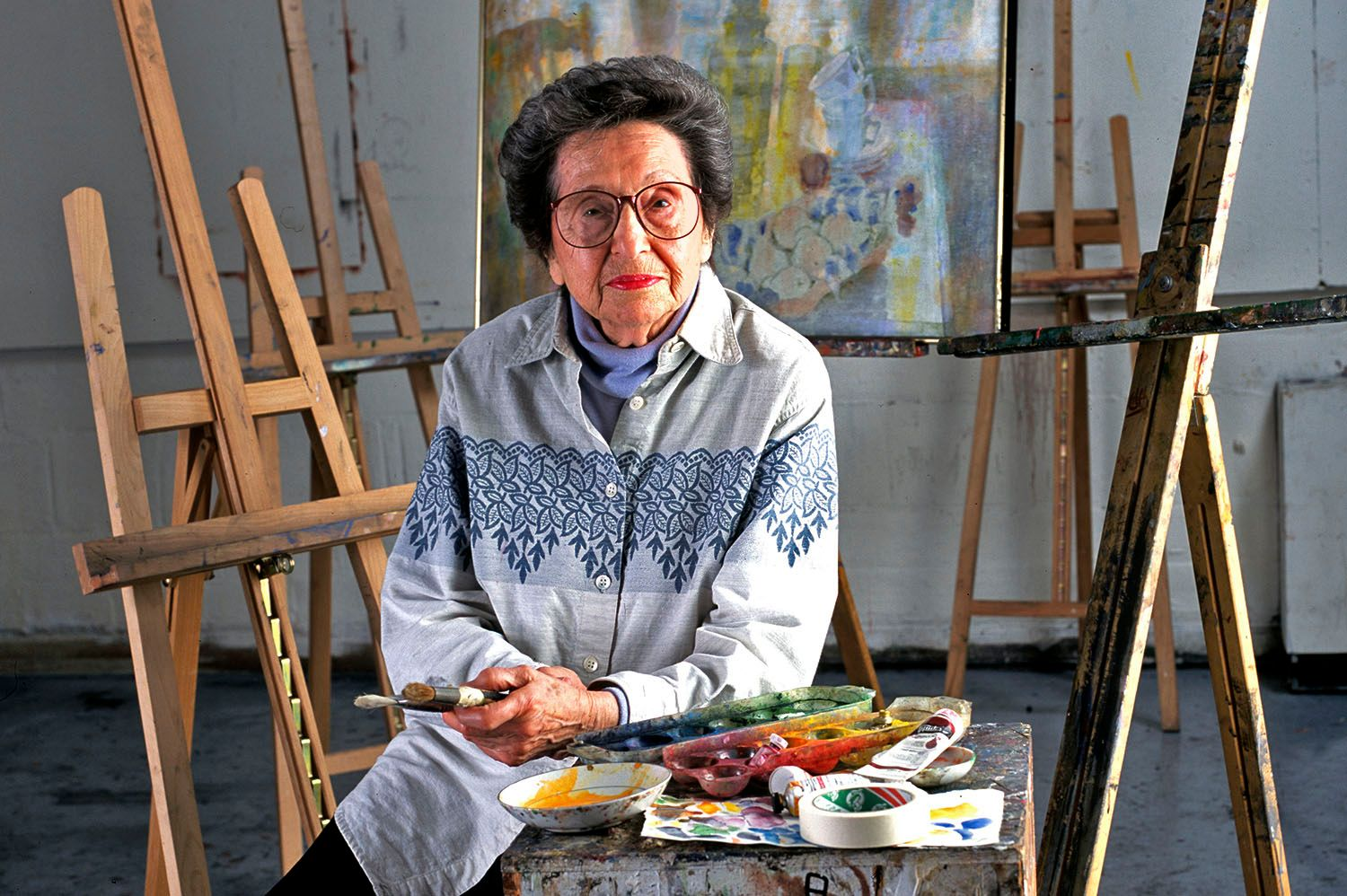 Portrait of artist, Ruth Cobb.