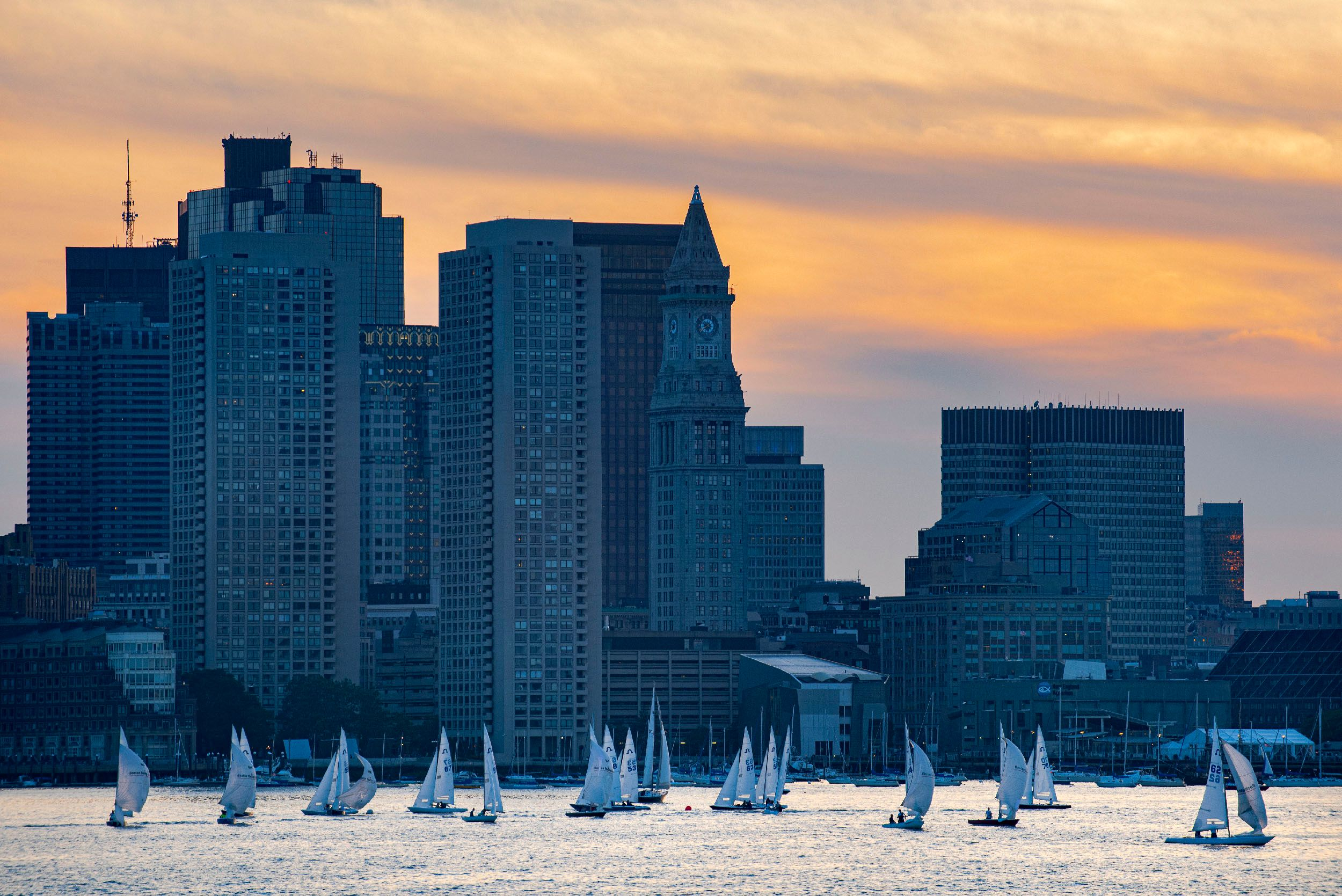 Boston Harbor at Sunset
