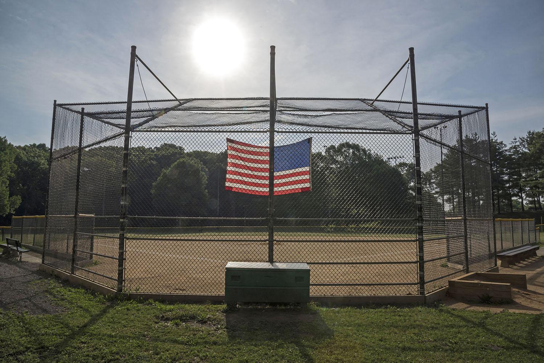 American Flag and Baseball
