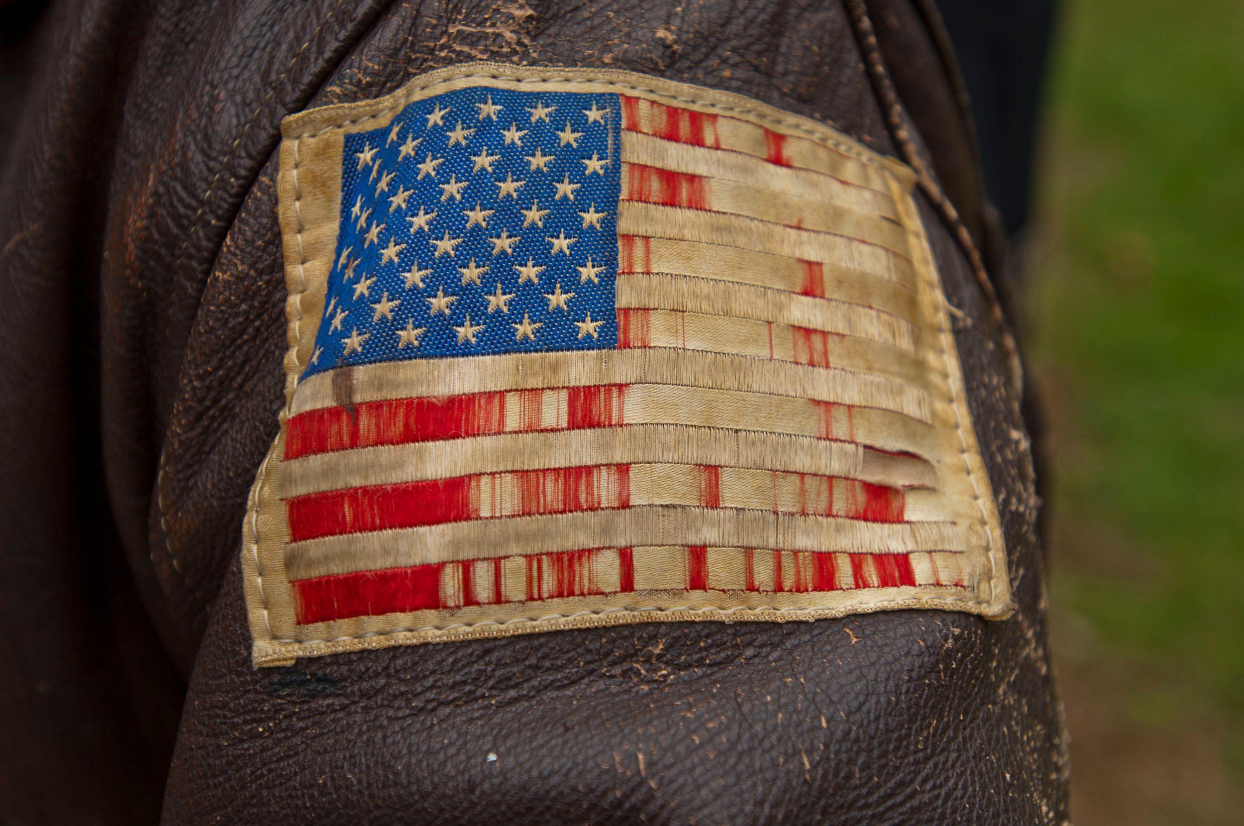 Veteran  Leather Bomber Jacket