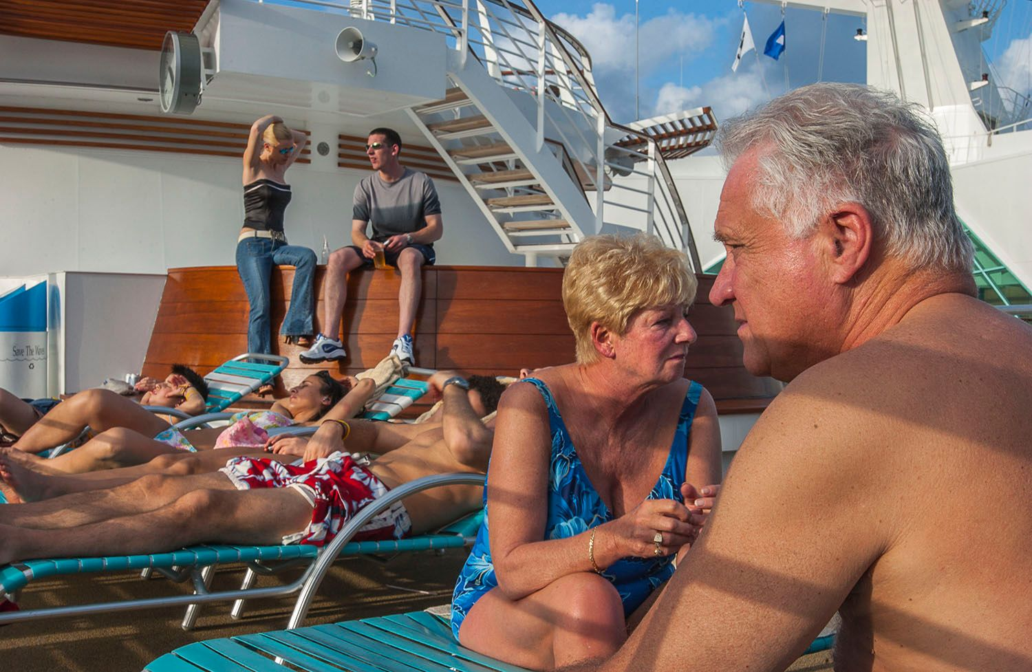 Poolside on a Cruise ship