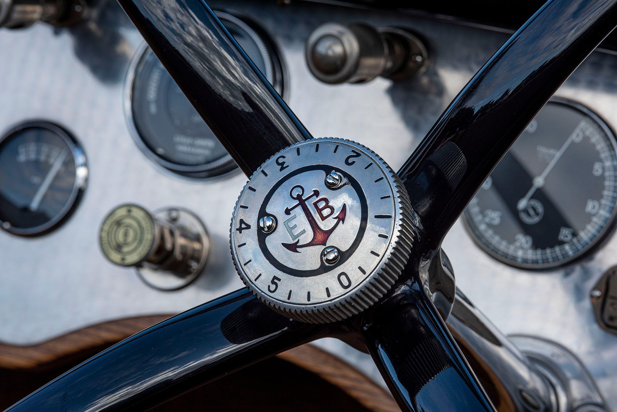 1931 Ballot RH3 steering wheel and dashboard.
