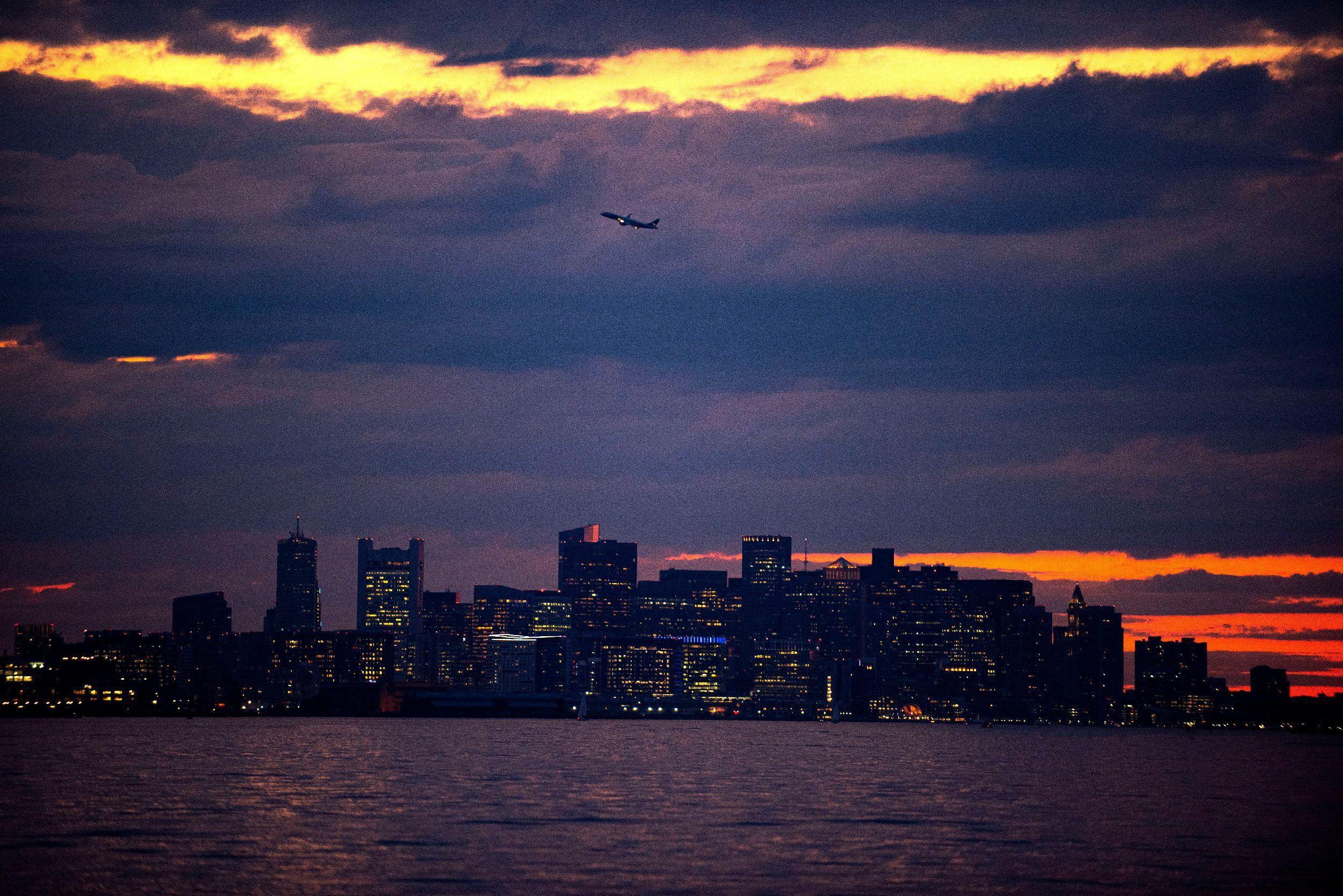 Boston Skyline from the Boston Harbor