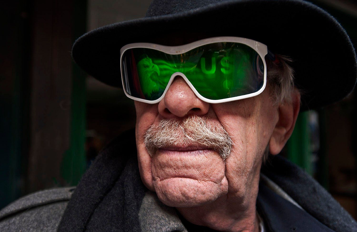 Man with Green Sunglasses