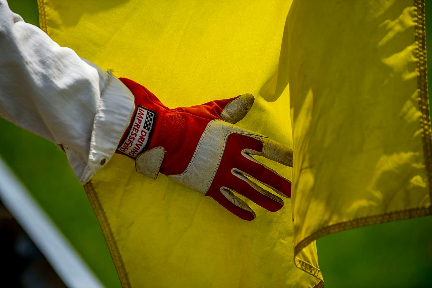 Yellow Flag and Glove