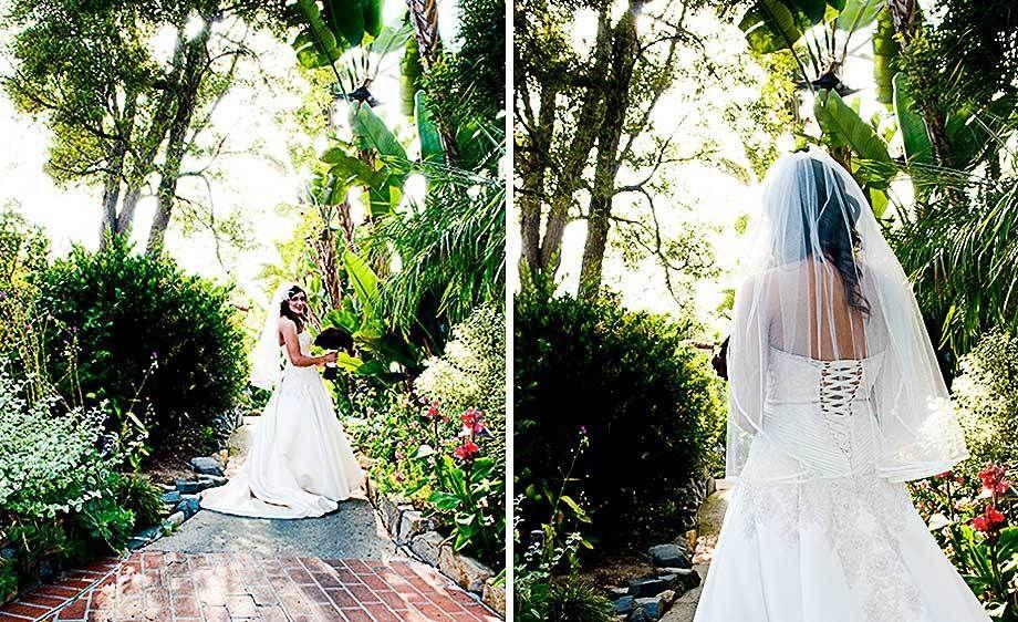 bride alone at the Rancho Santa Fe
