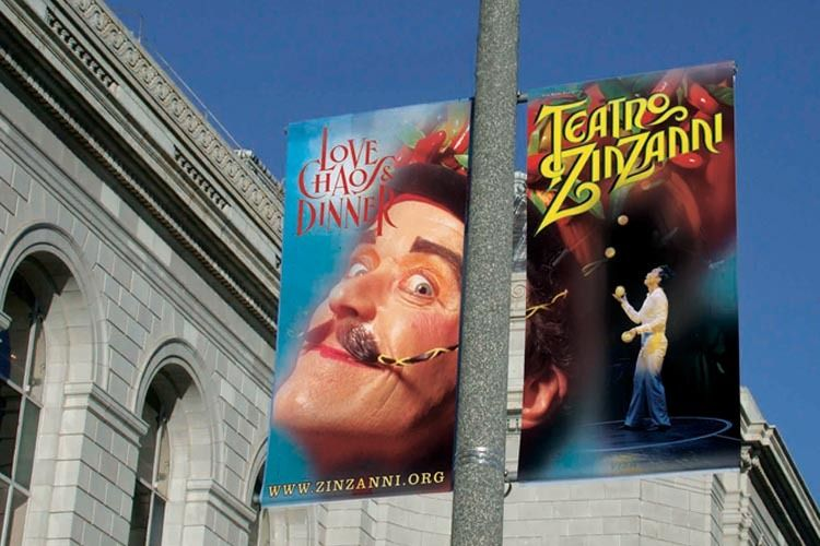 Teatro Zinzanni Street Poster