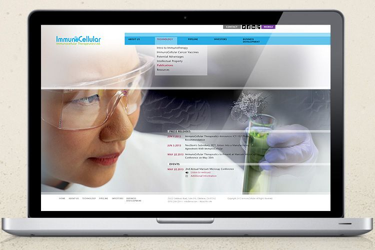 Immunocellular Therapeutics Website