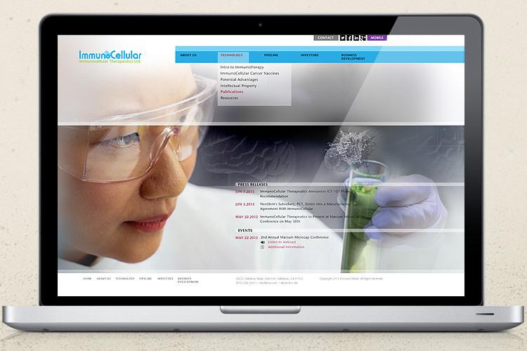 Immunocellular Therapeutics Website