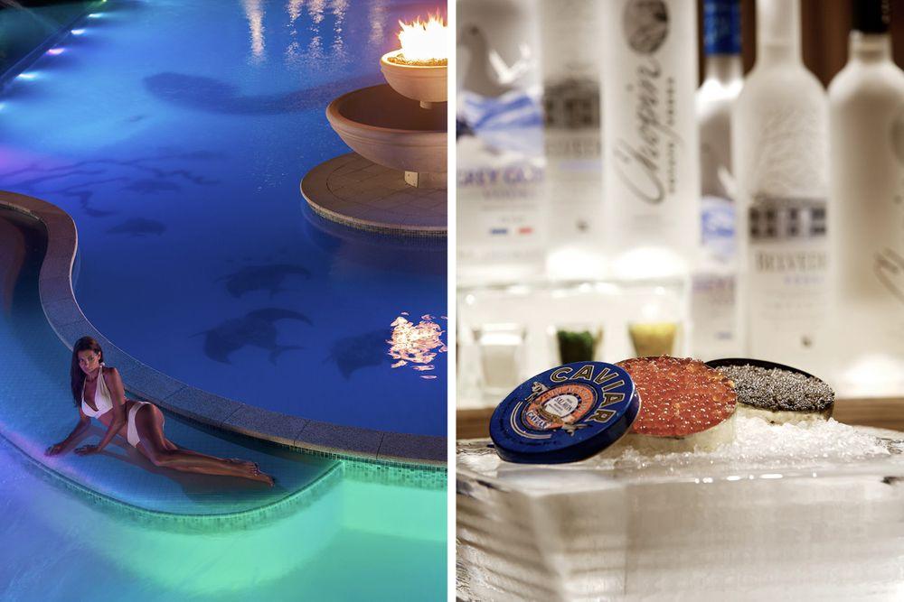 woman_pool_evening _caviar_ice