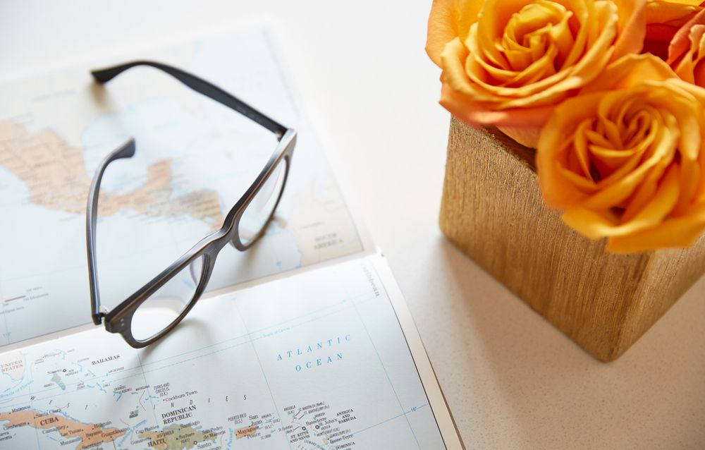 Map and Eye Glasses