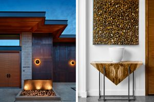 Barsdessono Villa 602 Exterior /Art and Wood Table