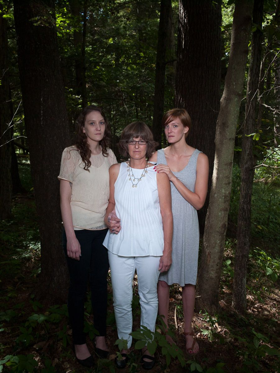 Marge Brower and her daughters, Cailen and Erin, Stone Ridge, NY
