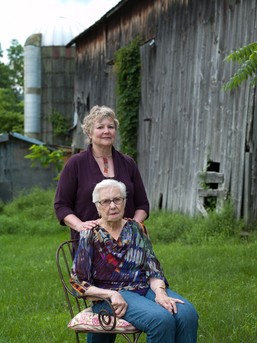 Barbara Lawrence and her mother, Iva Lawrence, Accord, NY