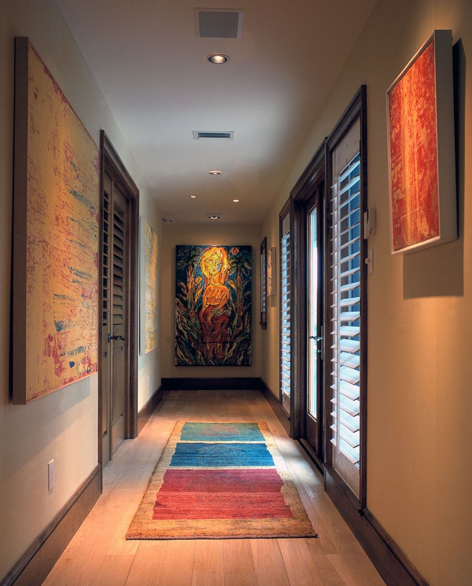 Contemporary Tropical Hallway