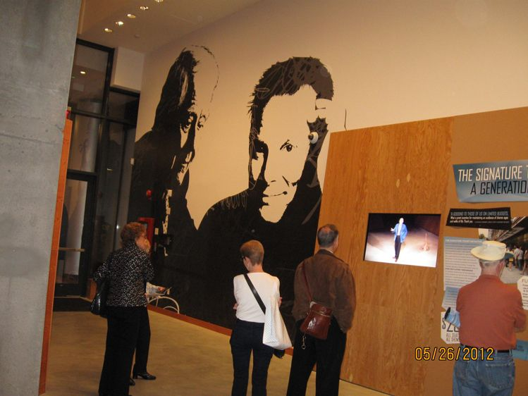 Portrait of Horton Foote and Bill Irwin-Art for lobby of Signature Theatre Center - West 42nd St, New York