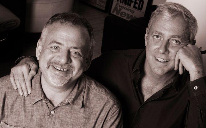 Marc Shaiman, composer and Scott Wittman,  lyricist, Tony Award winners for Hairspray