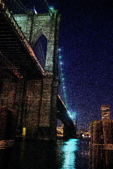 """brooklyn bridge"" 2005  color photofresco  from span series"