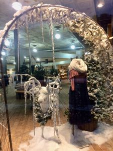 Frozen Deer and Arch Display