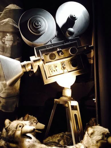 Camera I painted for Black and White movie Xmas 2014
