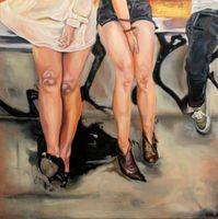 figurative work on canvas