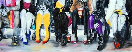 figurative painting on canvas