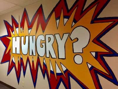 hungry pop art mural