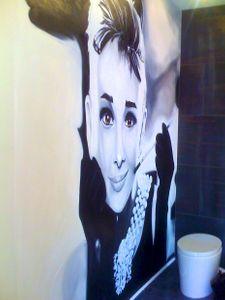 """120"""" x 120"""" oil painting of Audrey Hepburn"""