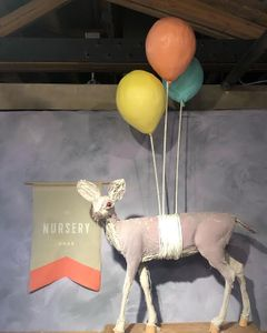 Deer with fake ballons