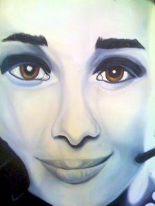 Detail of Audrey Hepburn
