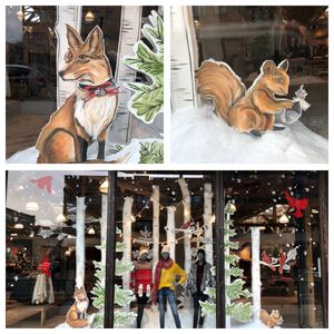 Holiday Window Display for Anthropologie