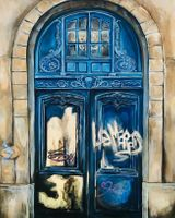 French door painting