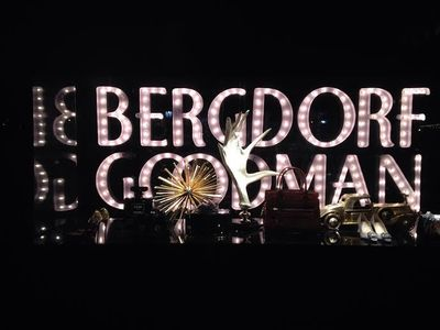 Bergdorf Goodman Home Window for Christms 2014