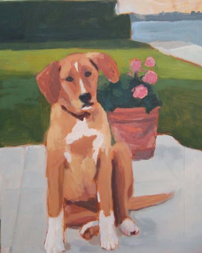 Oil, Stella puppy, 11x14, 2001